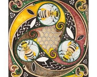 Celtic Spiral Bees