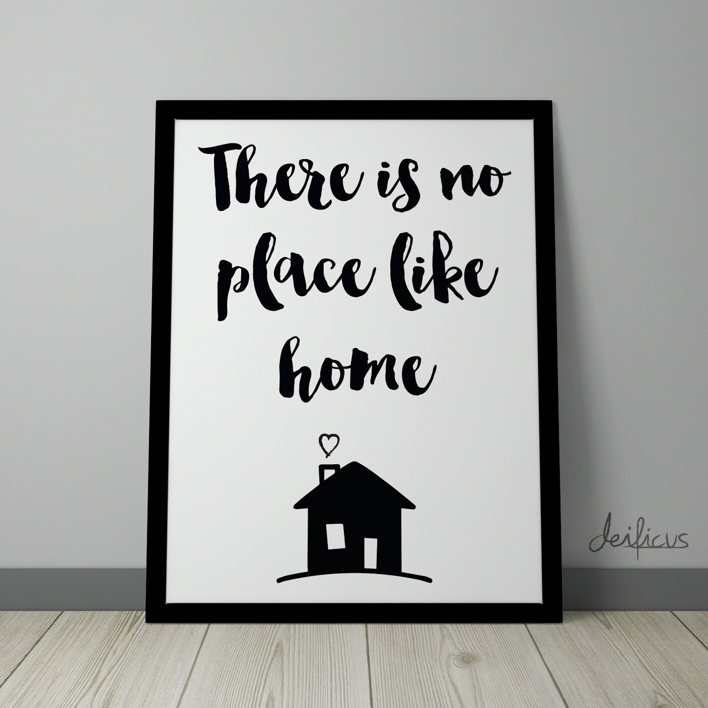 there is no place like home digital art print inspirational. Black Bedroom Furniture Sets. Home Design Ideas