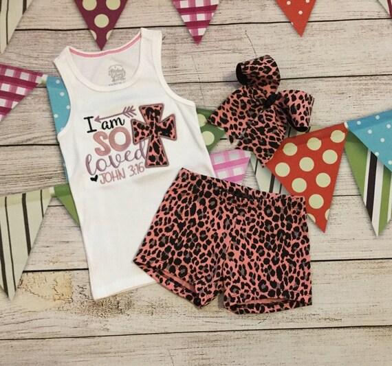 Girls Short Set,Girls Top and Short,Tank Top,Girls Dance Shorts,Leopard Short,Embroidery Tank Top,Girls Bow,Girls Short,Birthday Outfit