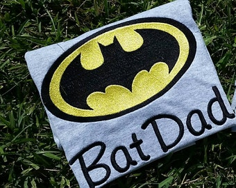 custom bat dad batman shirt