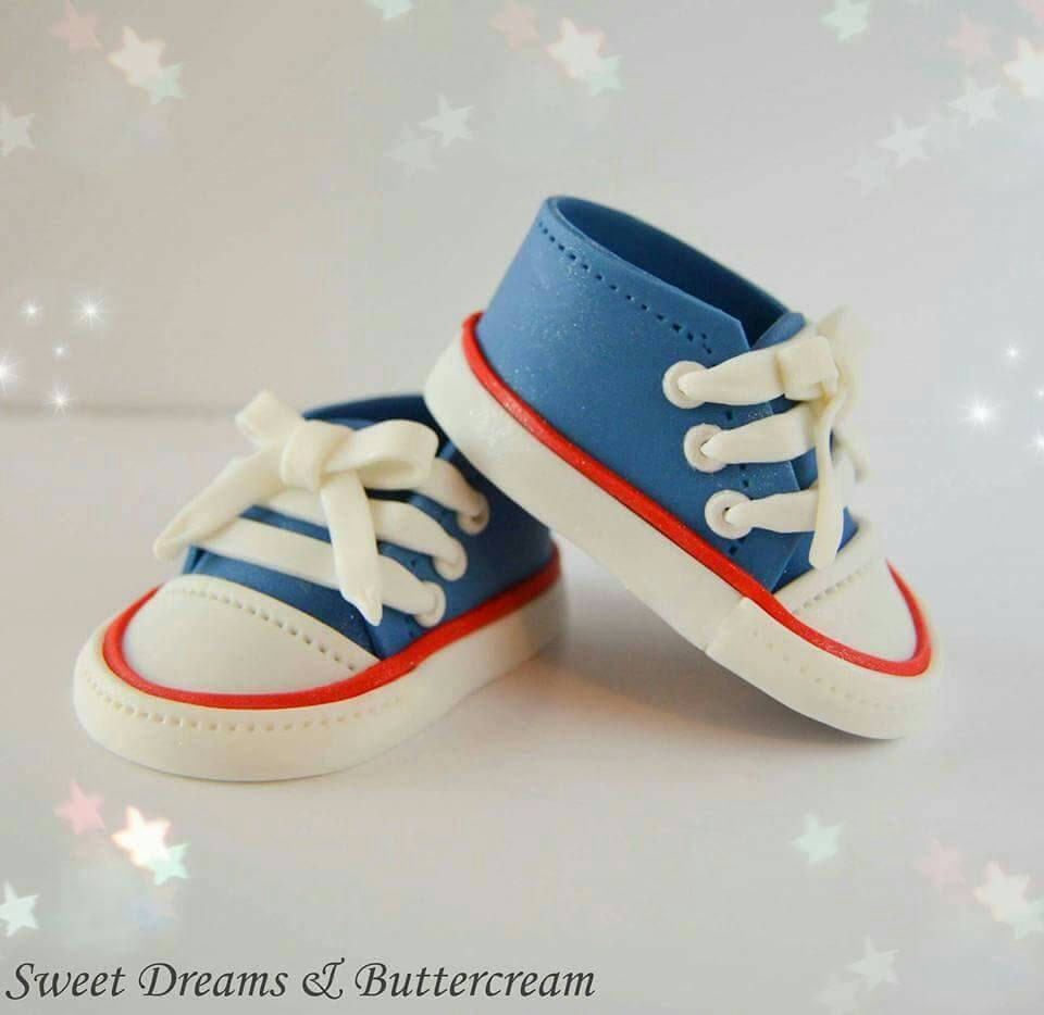 Baby Converse Cake Topper fondant baby shoes Converse shoes