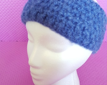 Blue crocheted Headband