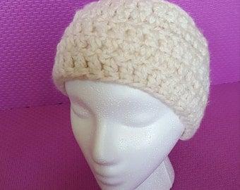 Creme crocheted Headband