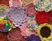 Layered Petal Crochet Flower Pattern | Crocheted Flowers | Floral Ornament | Floral Hair Accessory | Flower Bookmark
