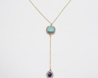 Aqua & Lapis Necklace