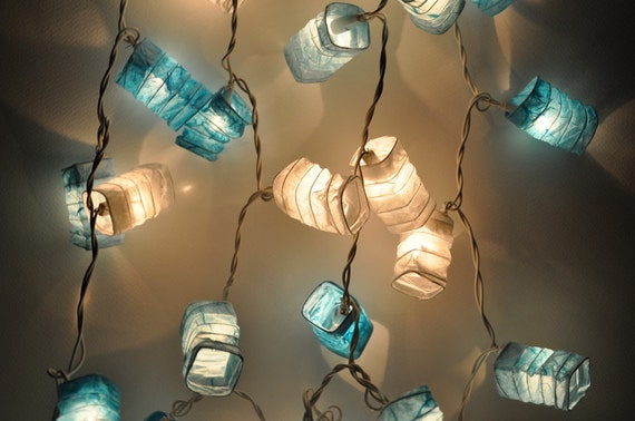 35 Blue Lantern String Lights for Decor Living by leelavadeelights
