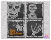 Halloween Prints, Printable Halloween Decor, Chalkboard Halloween Art, Halloween Decor, Instant Download, Digital Prints, 8x8