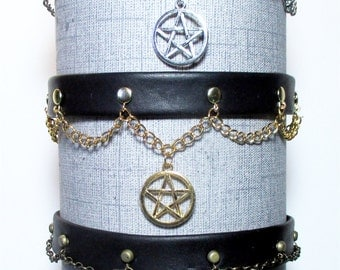 Star Pentagram Dress Collar/Choker