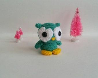 Owl Amigurumi Stuffed Animal Mini Pet Love Bird Kawaii Chibi Gift Toy