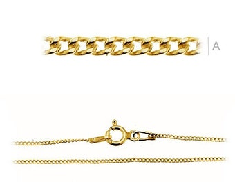 Gold-plated Chain 45 cm CRUB Sterling Silver 925