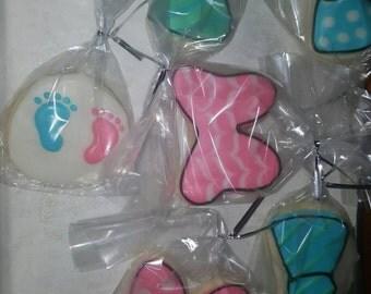 Gender reveal cookies 1 dz mix