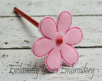 Single Flower Pencil Topper - Party Favor - Valentine - Classroom Prizes - I Love You - Be Mine - Happy V-Day - Small Gift - Back to School