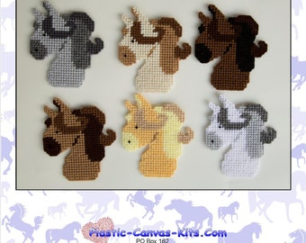 Horse Magnets-Plastic Canvas Pattern-PDF Download-NOT a finished item