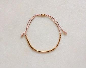 Handmade silk bracelet