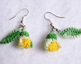 Earrings rose buds