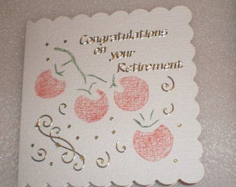 Congratulations on your retirement handmade card
