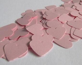 500 Pink heart confetti - wedding - bridal shower - birthday - baby shower - Table decoration - Confetti -
