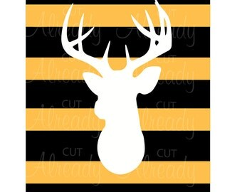 Deer on Black and Gold - SVG - Cutting file for Silhouette - Cricut - Instant Download