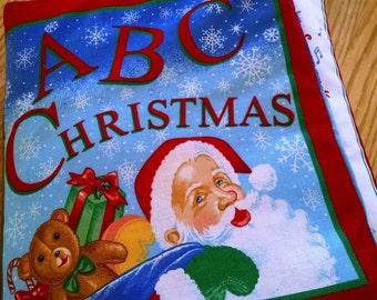 Cloth Book – A B C  Christmas  -  Item BK150001