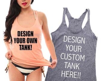Custom Shirts- Women's Tank Top Shirt. Design Your Own Shirt. Personalized Shirts. Disney Shirts. Bachelorette Party Shirts. Birthday Shirt.