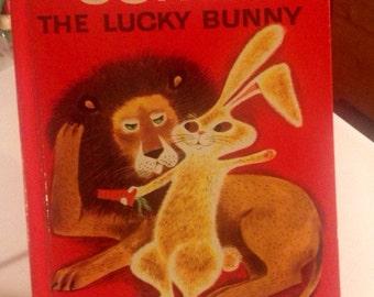 Sonny the Lucky Bunny Wonder Book, vintage, children's, baby shower, birthday gift, midcentury