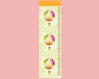 Hot Air Balloon Canvas Growth Chart