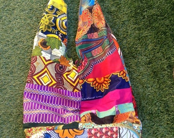 African patchwork bags