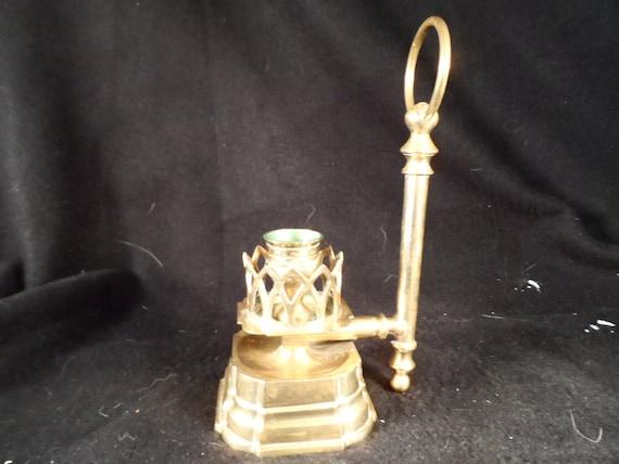 Brass Candlestick holder-Unique Brass Candle Holder-Home decor
