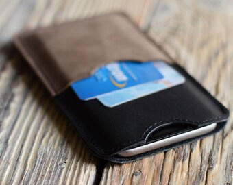 Leather iPhone 6 case iPhone 6s sleeve Credit card iPhone case Leather iPhone sleeve