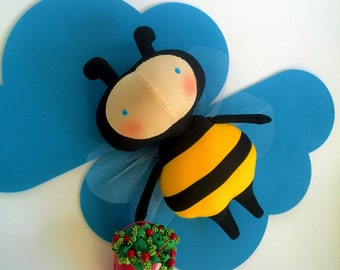 bee stuffed toys Gift for children Honey bee toy Bumble bee Bees Gift summer Toys for children Stuffed Animals Soft toy Tilde Summer
