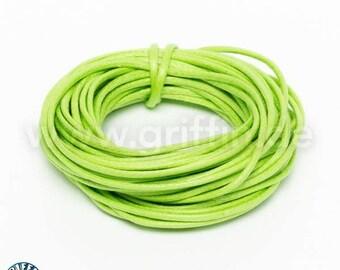 Wax Ribbon, 1 mm, jade green, 5 m, cotton Ribbon, jewelry