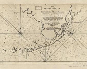 Florida Keys Map - Historical Chart - 1772