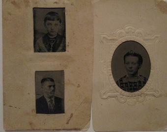 Antique Tin Type Small Size Photos / Student Photos (3)