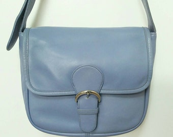 Coach Periwinkle Blue Bedford Bag with Nickel Hardware