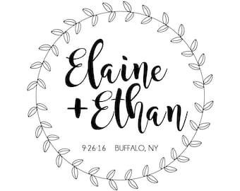 Custom Wedding Logo, Wedding Monogram, Digital File