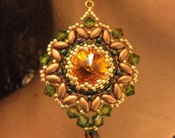 Fern Green & Topaz Earrings