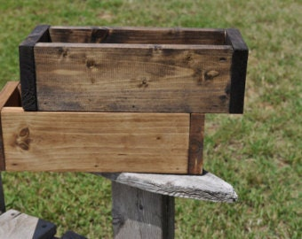 Wood Planter. Custom Planter. Planter box. Rustic Planter. Rustic Centerpiece. Rustic decor.