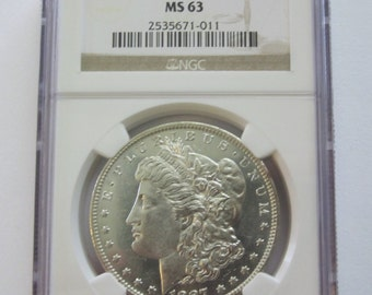 1887-O Morgan Silver Dollar Certified by NGC MS63