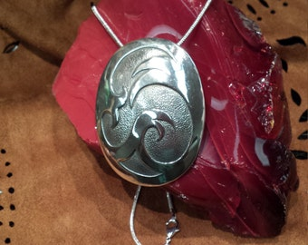 Sterling silver native American contemporary pendant