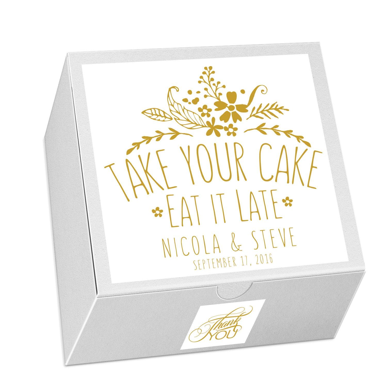 Cake Favor Box Wedding Favor Candy Favor Box Event Favors
