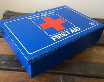 Johnson & Johnson First Aid Kit No. 8161 with contents