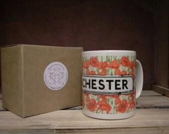 Poppy mug - tea coffee hot chocolate