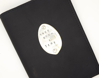 Spoon medallion journal or diary - once upon a time