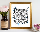 Harry Potter quotes/Dumbledore quote/Harry potter quote/Instant download/Thinks we lose have a way/Wall art quotes/Wall prints/Harry Potter