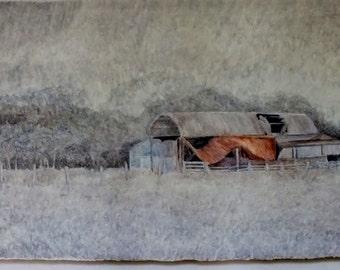 "Casein Painting "" Dutch Barn"""