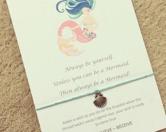 Always be a mermaid wish bracelet