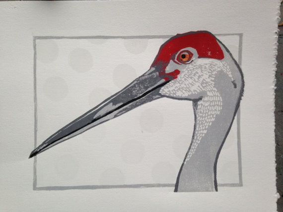 WILDLIFE REHABILITATION CENTER print: Sugar the sand crane