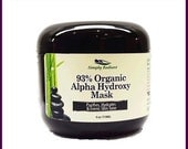 35% OFF Organic Alpha Hydroxy & Hyaluronic Acid Face Mask - Vegan Skincare Natural Skin Care |Anti-Aging Skin Care