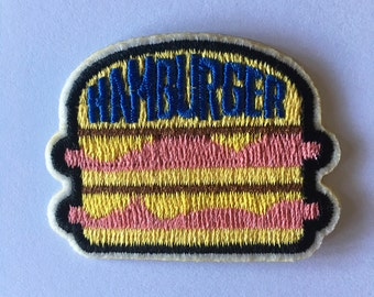 HAMBURGER embroidered patch