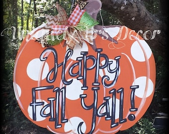 Fall Pumpkin, Door Hanger, Pumpkin Door Hanger, Fall Door hanger